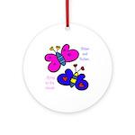 Butterflies Ornament (Round)