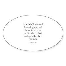 EXODUS 22:2 Oval Decal