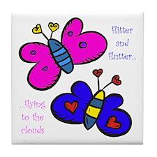 Butterflies Tile Coaster