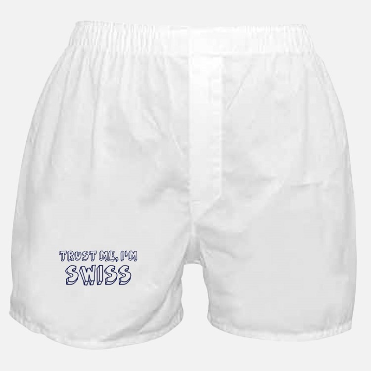 Trust Me I Am Swiss Boxer Shorts