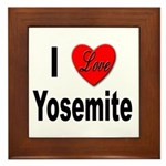 I Love Yosemite Framed Tile