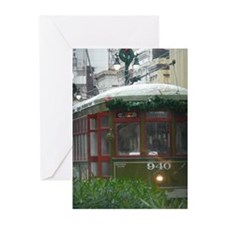 Snow on Streetcar Greeting Cards (Pk of 20)