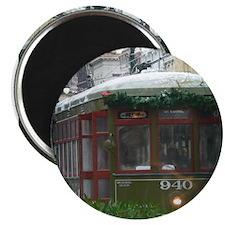 Snow on Streetcar Magnet