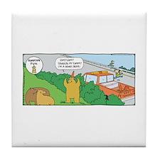 Rhymes orange comics Tile Coaster