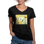 Troupe de Eglantine Women's V-Neck Dark T-Shirt