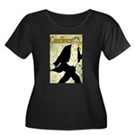 Caudieux Women's Plus Size Scoop Neck Dark T-Shirt
