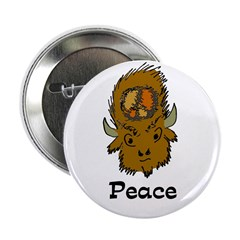 Bison of Peace Button