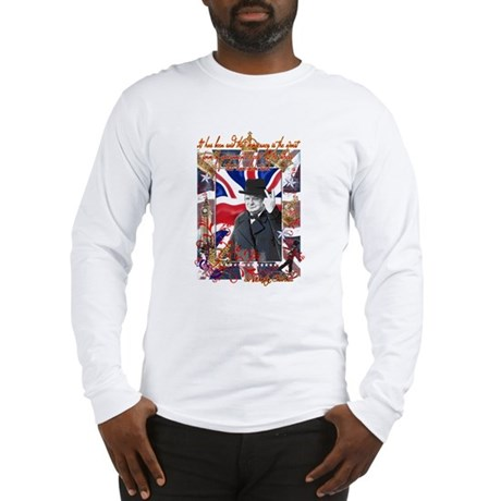 Winston Churchill Quote Long Sleeve T-Shirt