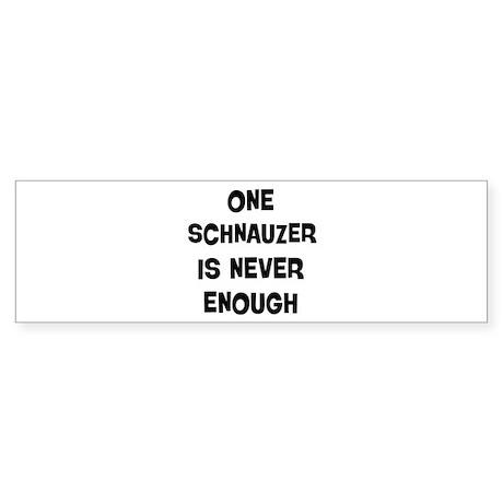 One Schnauzer Bumper Sticker