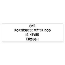 One Portuguese Water Dog Bumper Bumper Sticker