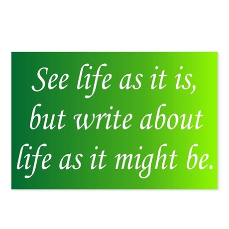 Write About Life Postcards (Package of 8)