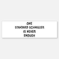 One Standard Schnauzer Bumper Bumper Bumper Sticker