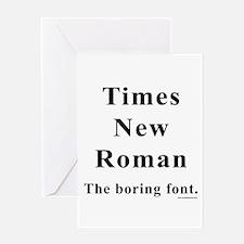 Times New Roman Boring Greeting Card