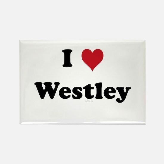 I love Westley Rectangle Magnet