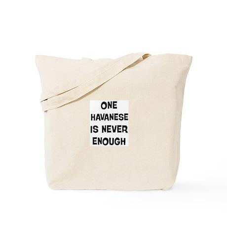 One Havanese Tote Bag