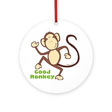 Good Monkey Ornament (Round)