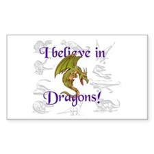 I Believe in Dinosaurs Rectangle Decal