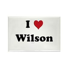 I love Wilson Rectangle Magnet (10 pack)