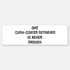 One Curly-Coated Retriever Bumper Bumper Bumper Sticker