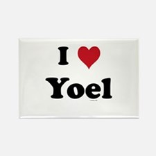 I love Yoel Rectangle Magnet