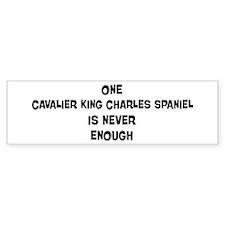 One Cavalier King Charles Spa Bumper Car Sticker