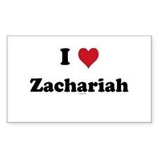 I love Zachariah Rectangle Decal
