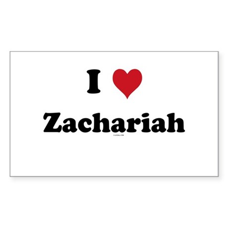I love Zachariah Rectangle Sticker