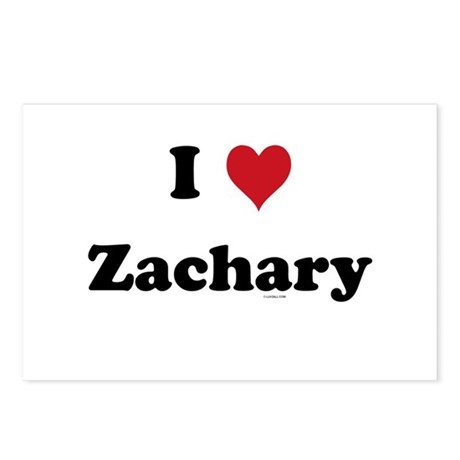 I love Zachary Postcards (Package of 8)