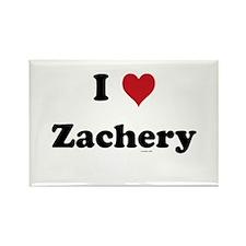 I love Zachery Rectangle Magnet