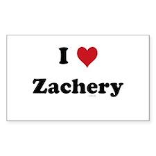 I love Zachery Rectangle Decal