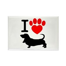 Cute Paw prints Rectangle Magnet
