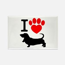 Cute Carolina dog Rectangle Magnet