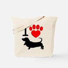 Cute Basset Tote Bag