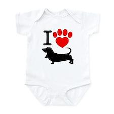 Bassett hounds Infant Bodysuit