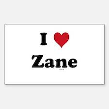 I love Zane Rectangle Decal