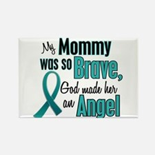 Angel 1 TEAL (Mommy) Rectangle Magnet