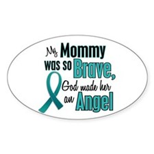 Angel 1 TEAL (Mommy) Oval Decal