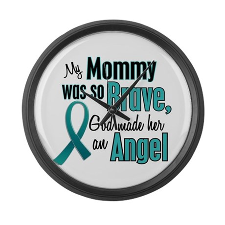 Angel 1 TEAL (Mommy) Large Wall Clock