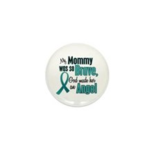 Angel 1 TEAL (Mommy) Mini Button (10 pack)