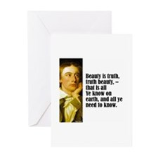 """Keats """"Beauty Is Truth"""" Greeting Cards (Pk of 10)"""