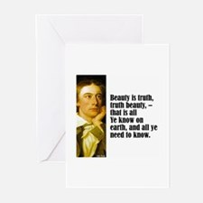 "Keats ""Beauty Is Truth"" Greeting Cards (Pk of 10)"