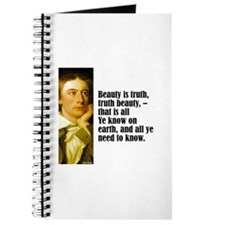 "Keats ""Beauty Is Truth"" Journal"