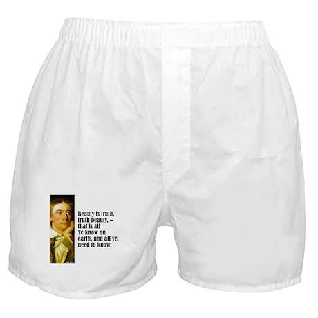 """Keats """"Beauty Is Truth"""" Boxer Shorts"""