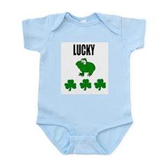 LUCKY FROG /4 LEAF CLOVER Infant Creeper
