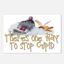 Stop Cupid Snowmobile Postcards (Package of 8)