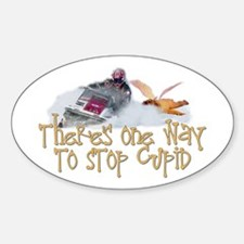 Stop Cupid Snowmobile Oval Decal