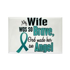 Angel 1 TEAL (Wife) Rectangle Magnet