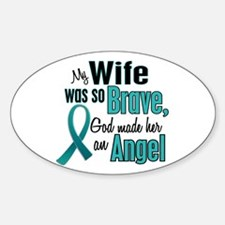 Angel 1 TEAL (Wife) Oval Decal