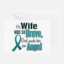 Angel 1 TEAL (Wife) Greeting Card