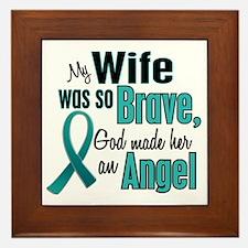 Angel 1 TEAL (Wife) Framed Tile